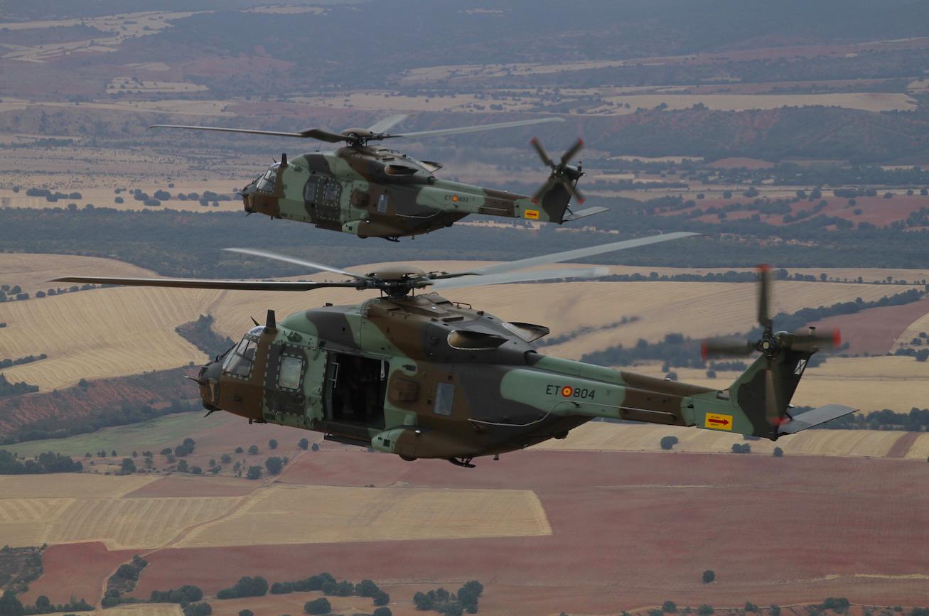 Los 2 primeros NH90 de las FAMET en el aire - Aviación Digital 641632a6287